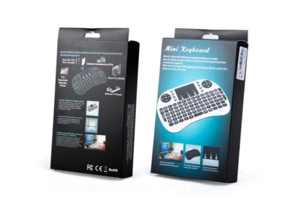 Беспроводная мини клавиатура с тачпадом i8