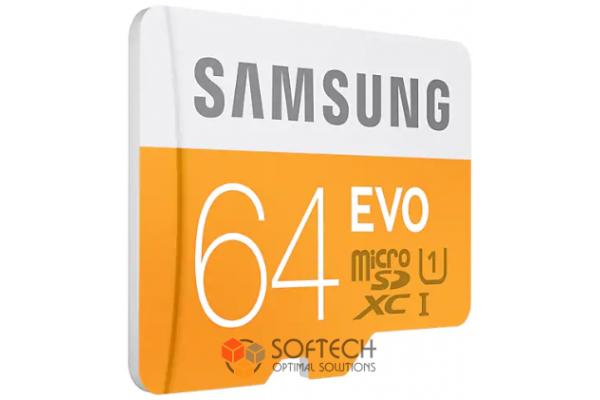 Флешка Micro SDHC Card SAMSUNG 64GB EVO UHS-I class 10