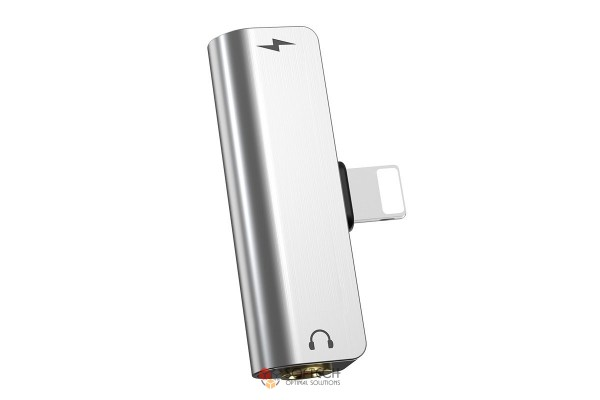 Адаптер LS25 Lightning на 3.5мм зарядка и звук