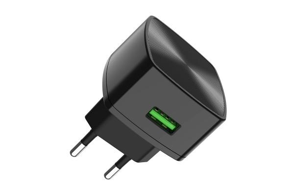 """Набор зарядного устройства с кабелем C70A Cutting-edge"""" EU QC3.0 с одним USB портом"""