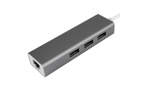 Универсальный адаптер c Type-C на 3xUSB/Gigabit Ethernet