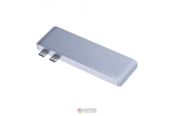 Универсальный адаптер c Type-C на 2xUSB/1xmicroSD/1xSD/2xType-C