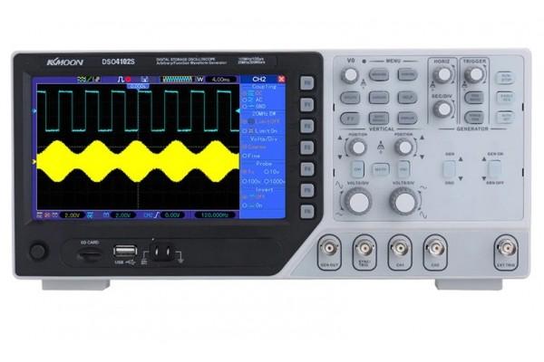 Двухканальный осциллограф Hantek DSO4102S 100 м + генератор сигналов DSO4072S 70 м двухпроходный