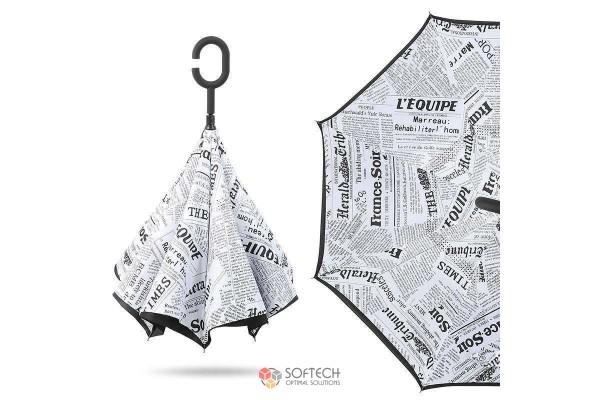 Зонт с обратным открытием
