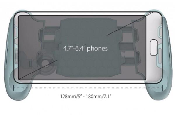 Джойстик с триггерами для игр на смартфон (JL-01/V6)