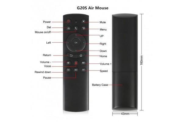 Аэро-мышь с микрофоном Air Mouse G20S (2.4GHz)