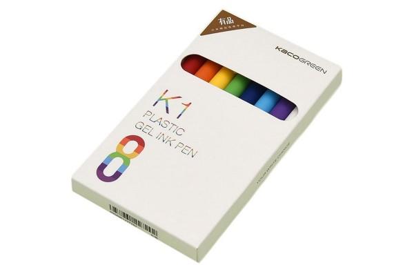 Набор гелевых ручек KACO K1 Plastic Gel Ink Pen (8 шт.)