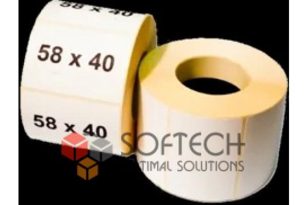 Наклейка для штрих кодов 58*40*600 ECO (60шт)