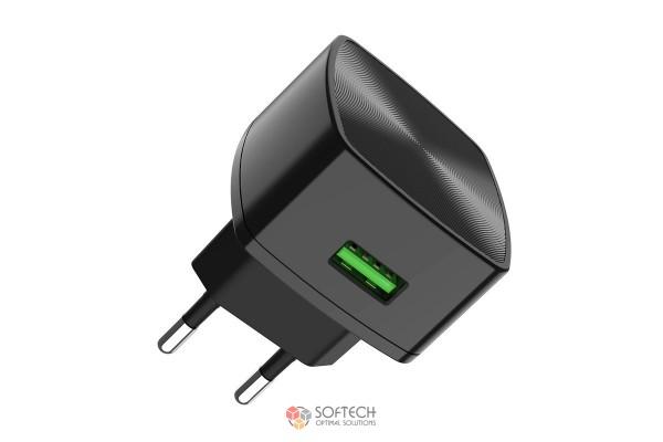 """Набор зарядного устройства с кабелем Cutting-edge"""" EU QC3.0 2- USB портом"""