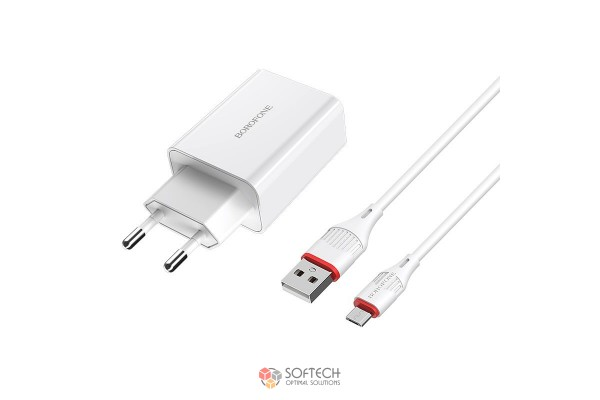 Зарядное устройство Borofone Q3.0 MICRO BA21A