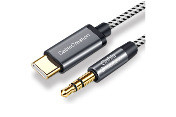 Aux кабель CableCreation с 3.5mm на Type-C