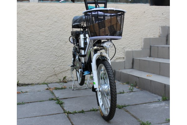 Электровелосипед с корзинкой усиленный 60V20A
