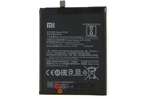 Аккумулятор для смартфона Xiaomi Mi A2, Mi 6X / BN36