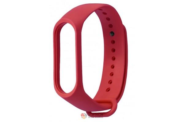 Cиликоновый ремешок для Xiaomi Mi Band 3 (красный)