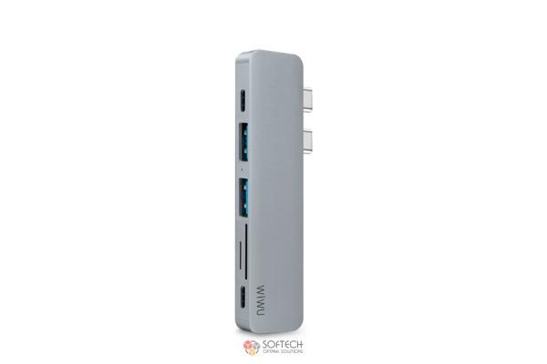 Адаптер-переходник Wiwu Adapter USB Type-C 7 in 1 T8 для Apple Macbook
