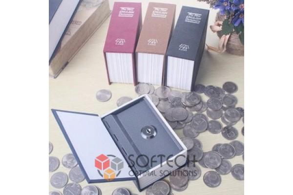 Копилка для монет в виде Книги с замком