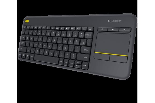 Беспроводная сенсорная клавиатура Logitech K400 Plus со встроенной сенсорной панелью Multi-Touch