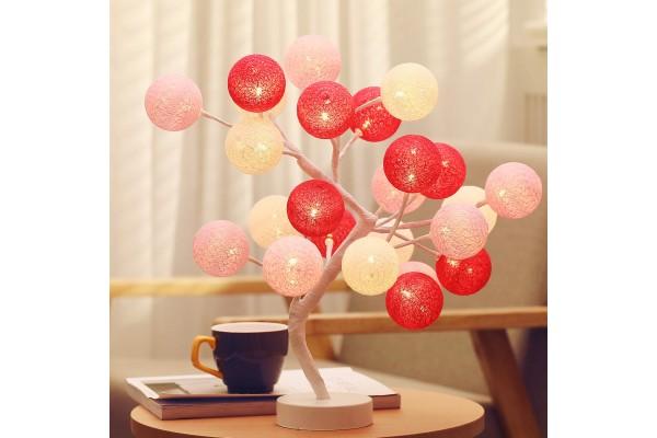Декоративный светильник дерево