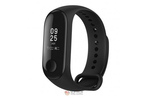 Силиконовый ремешок для Xiaomi Mi Band 3 (черный)
