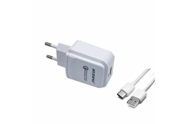 Зарядное устройство Recrsi Type-C QC3-0