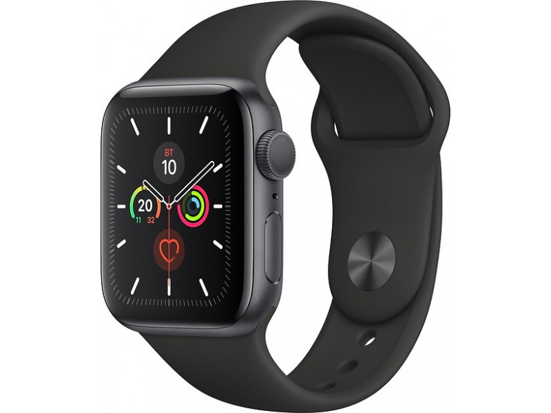 Смарт-часы Apple Watch Series 5 GPS 44mm Space Grey Aluminium Case with Black Sport Band
