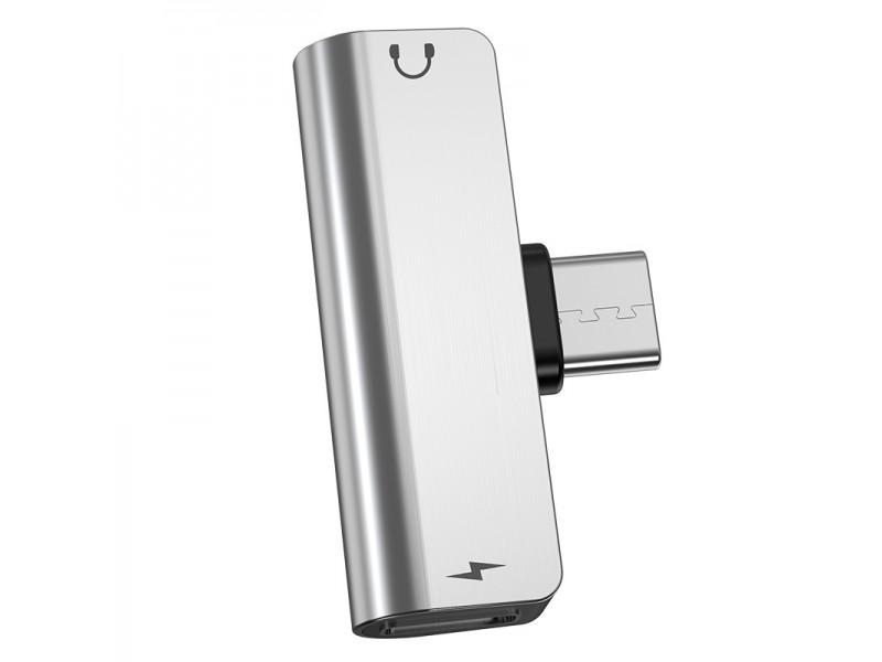 Адаптер LS26 Type-C на 3.5мм зарядка и звук