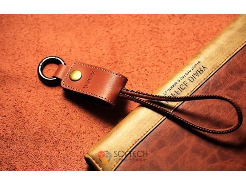 Кожаный брелок-кабель Remax Western microUSB