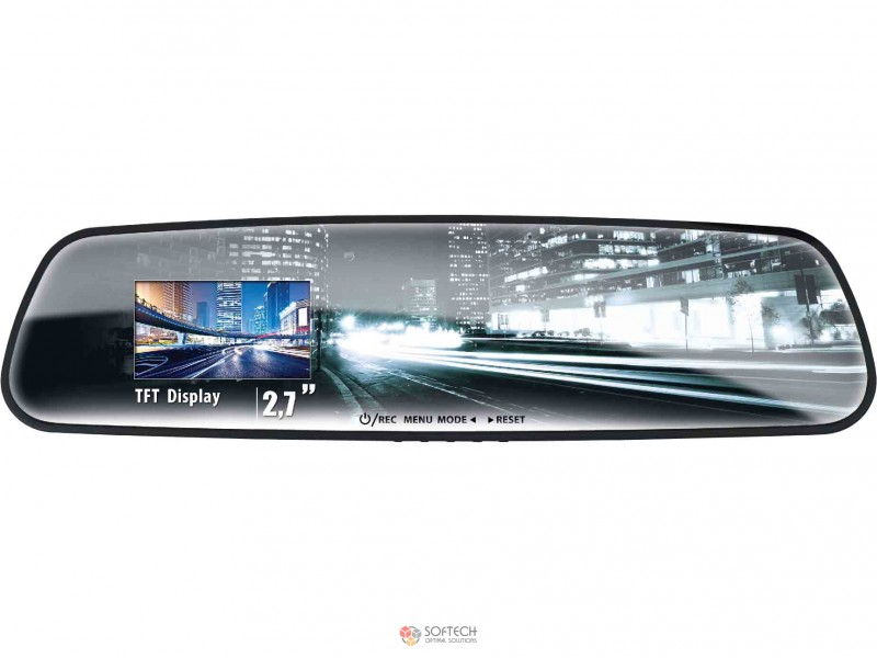 Видеорегистратор в зеркале с камерой заднего вида Vehicle Blacbox DVR 1080P