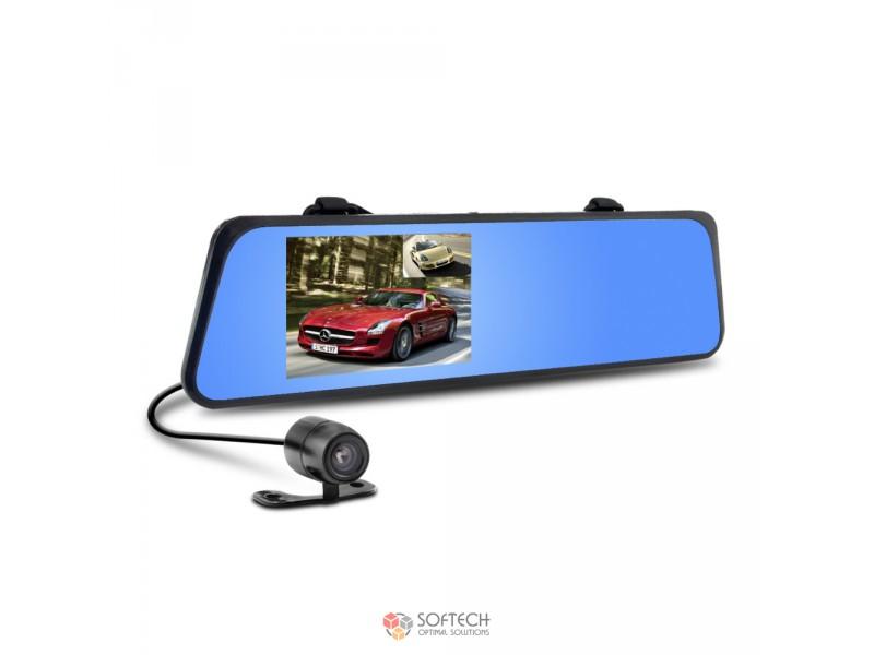 Видеорегистратор в зеркале с камерой заднего вида Vehicle Blacbox DVR