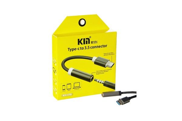 Переходник c 3.5mm на Type-C Kin KY-170