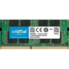 ОЗУ SODDIM DDR4 8GB PC-21333 (2666MHz) CRUCIAL