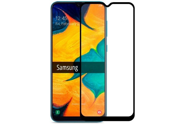 Защитное стекло для Samsung Galaxy A20 (с рамкой)
