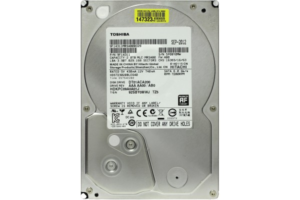 "Жесткий диск Toshiba 2ТБ SATAIII 3.5"" 64МБ cache"