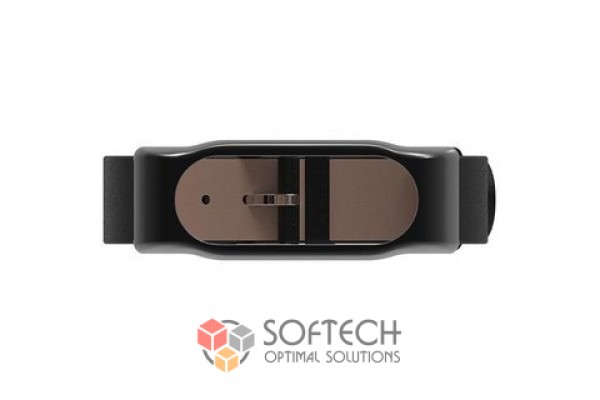 Кожаный ремешок для Xiaomi Mi Band 2 (черный)