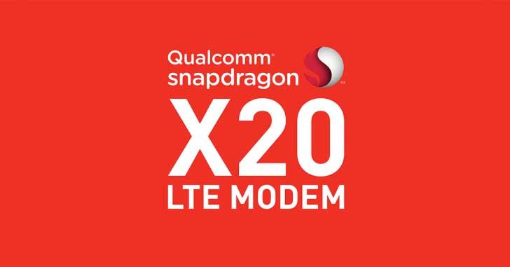 LTE-модем Snapdragon X20 LTE со скоростью передачи до 1,2 Гбит/с