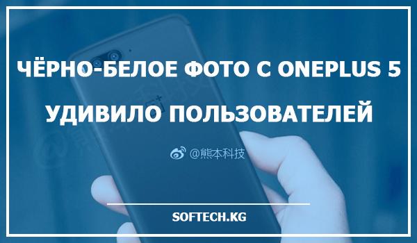 Чёрно-белое фото с OnePlus 5 удивило пользователей